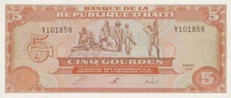 piece de monnaie haitienne